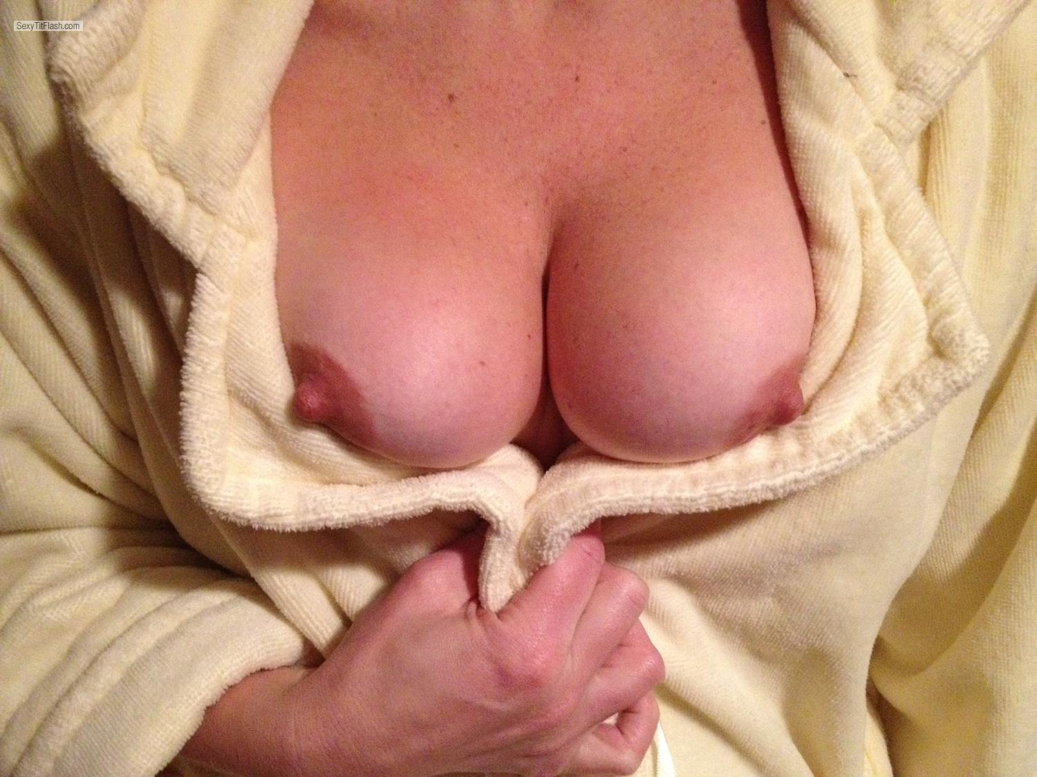 Tit Flash: Medium Tits By IPhone - My Milf from United States