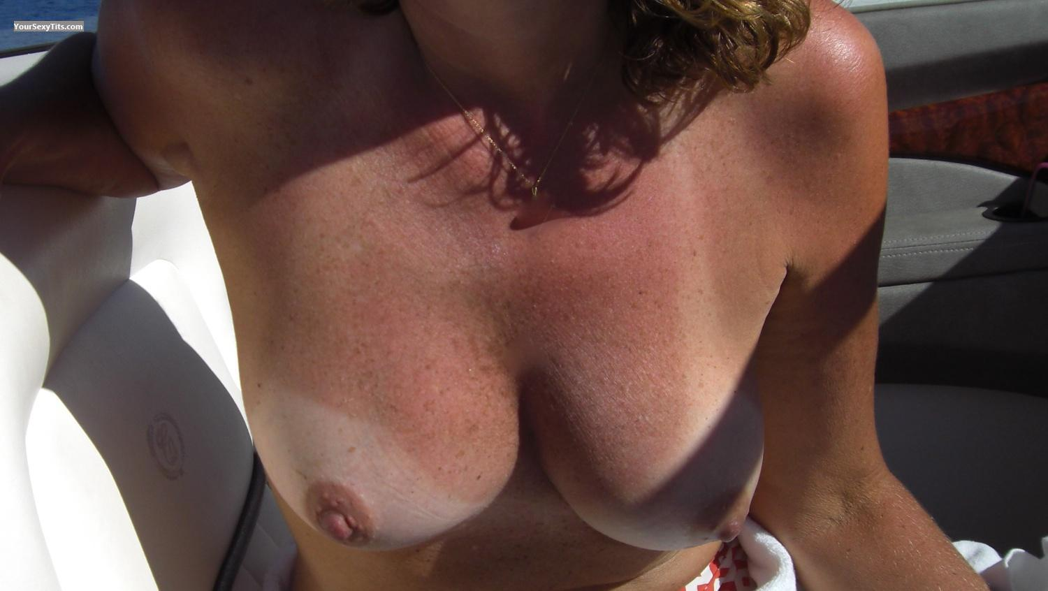 Tit Flash: Medium Tits By IPhone - Sweetie from United States