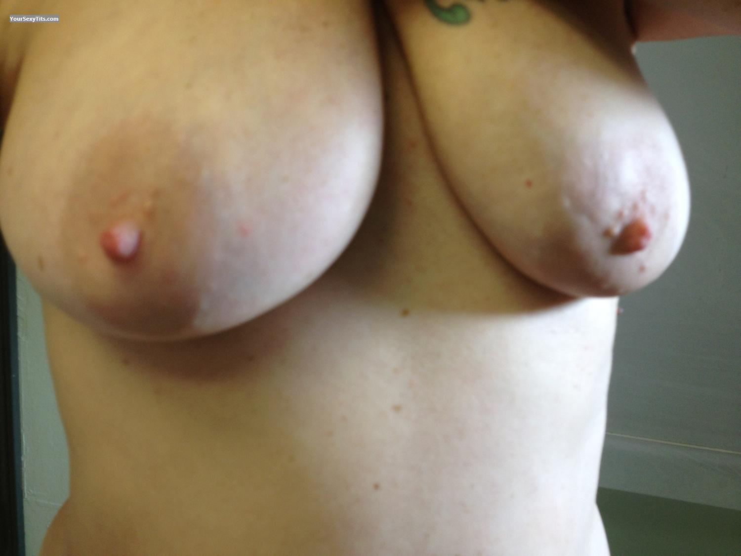 Tit Flash: My Medium Tits By IPhone (Selfie) - Littlebit from United States