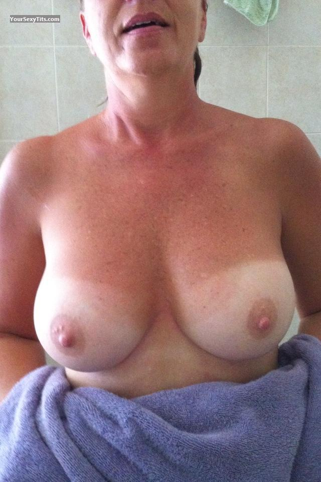 Tit Flash: Medium Tits By IPhone - At Last from United States