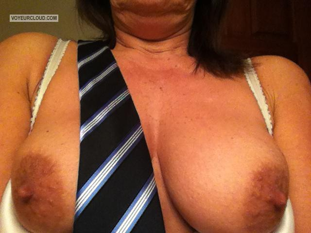 Tit Flash: My Medium Tits By IPhone (Selfie) - Pepperduval from United States
