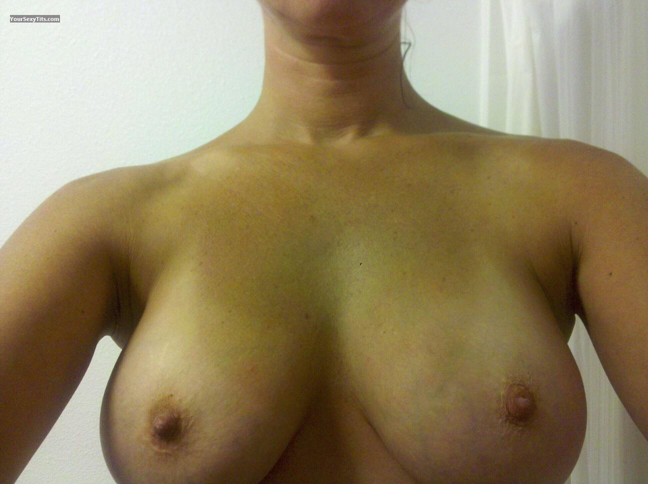 Tit Flash: My Medium Tits By IPhone (Selfie) - Liztitts from United States