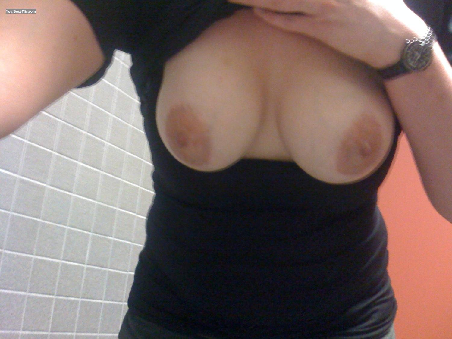 Tit Flash: My Medium Tits By IPhone (Selfie) - Kiki from United States