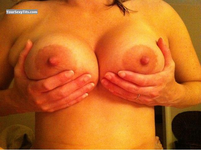 Tit Flash: Medium Tits By IPhone - Hotwife from United States