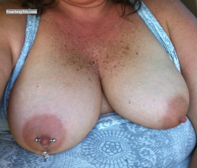 Tit Flash: Medium Tits By IPhone - Camping Girl from United StatesPierced Nipples
