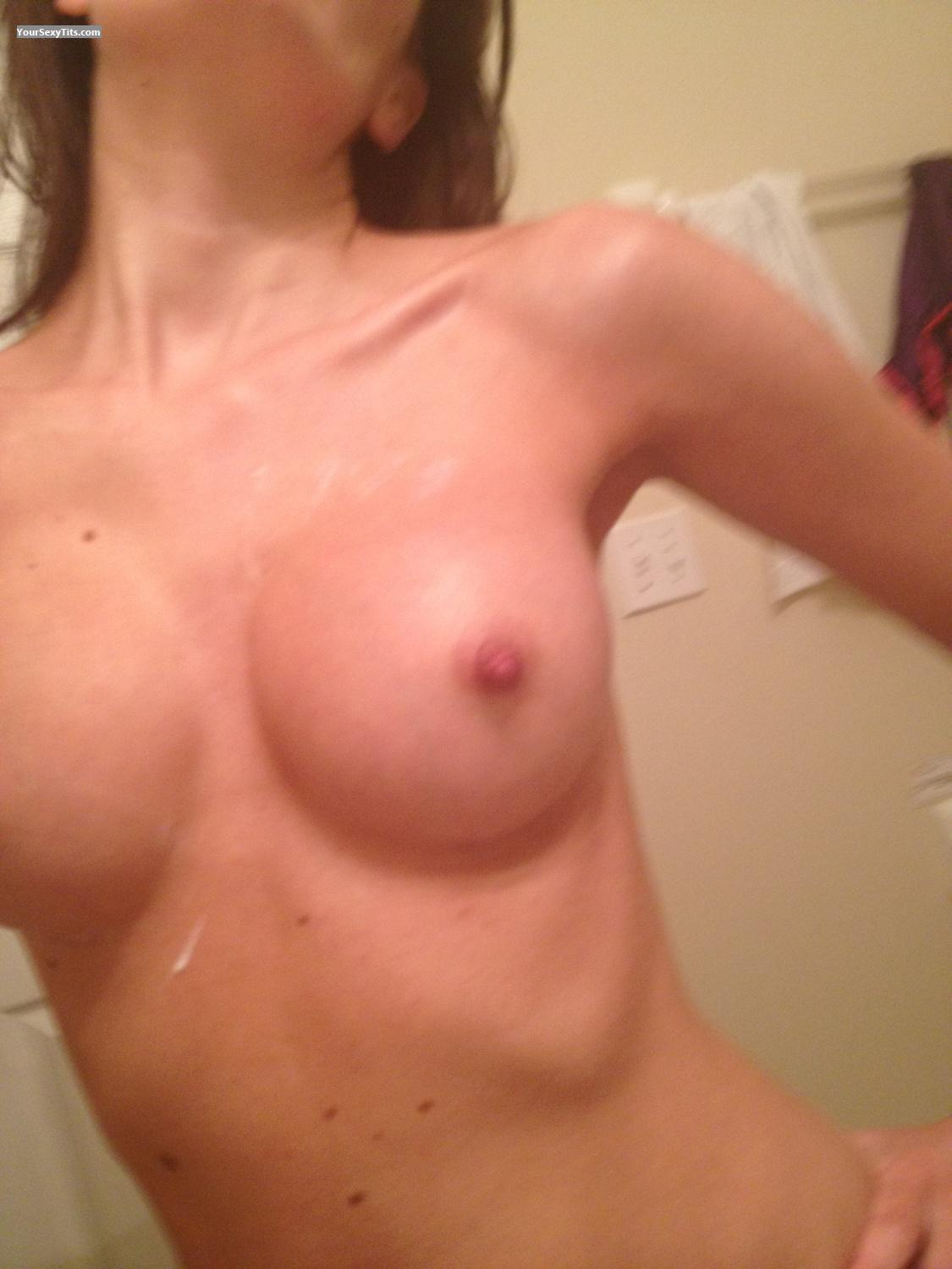 Tit Flash: Medium Tits By IPhone - Juicy Nips from United States