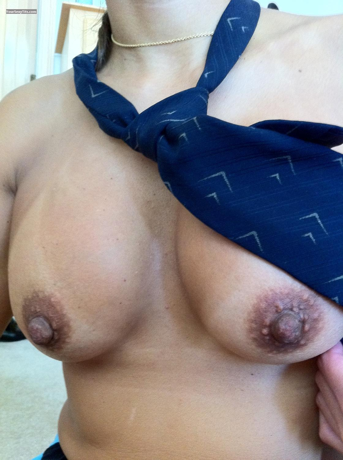 Tit Flash: Medium Tits By IPhone - Very Shybari from United States