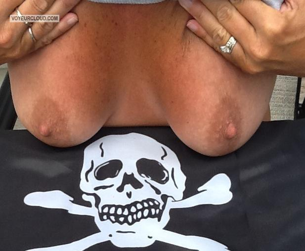 Tit Flash: Medium Tits By IPhone - Boat Girlie from United States