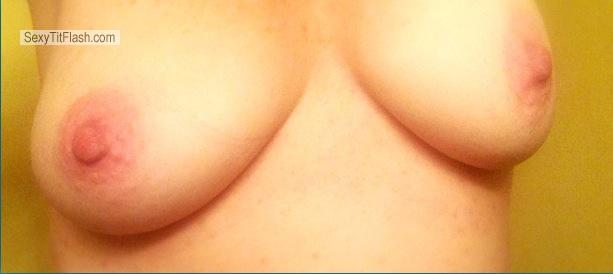 Tit Flash: My Medium Tits By IPhone (Selfie) - Goldy from United States