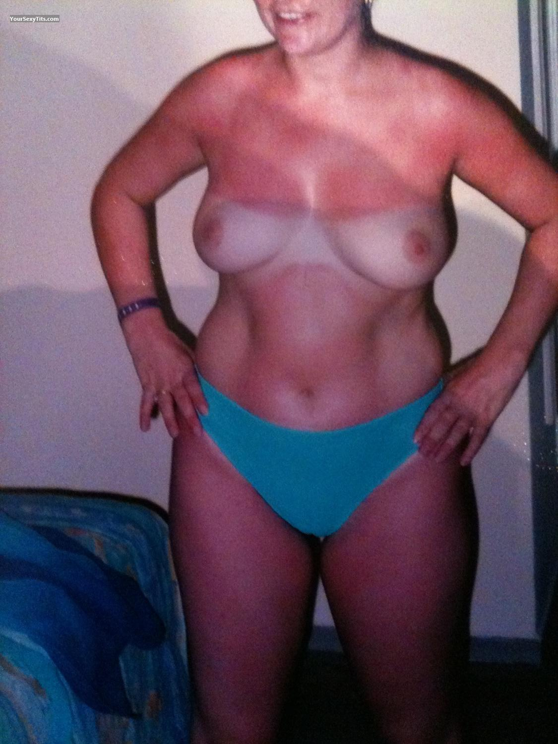 Tit Flash: Medium Tits By IPhone - 36 Ff. Tan Lined from United Kingdom