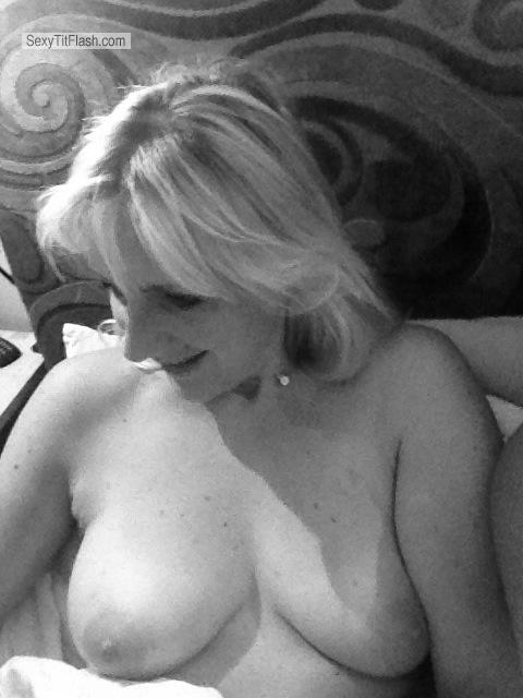 Tit Flash: Medium Tits By IPhone - Topless Jane from United Kingdom