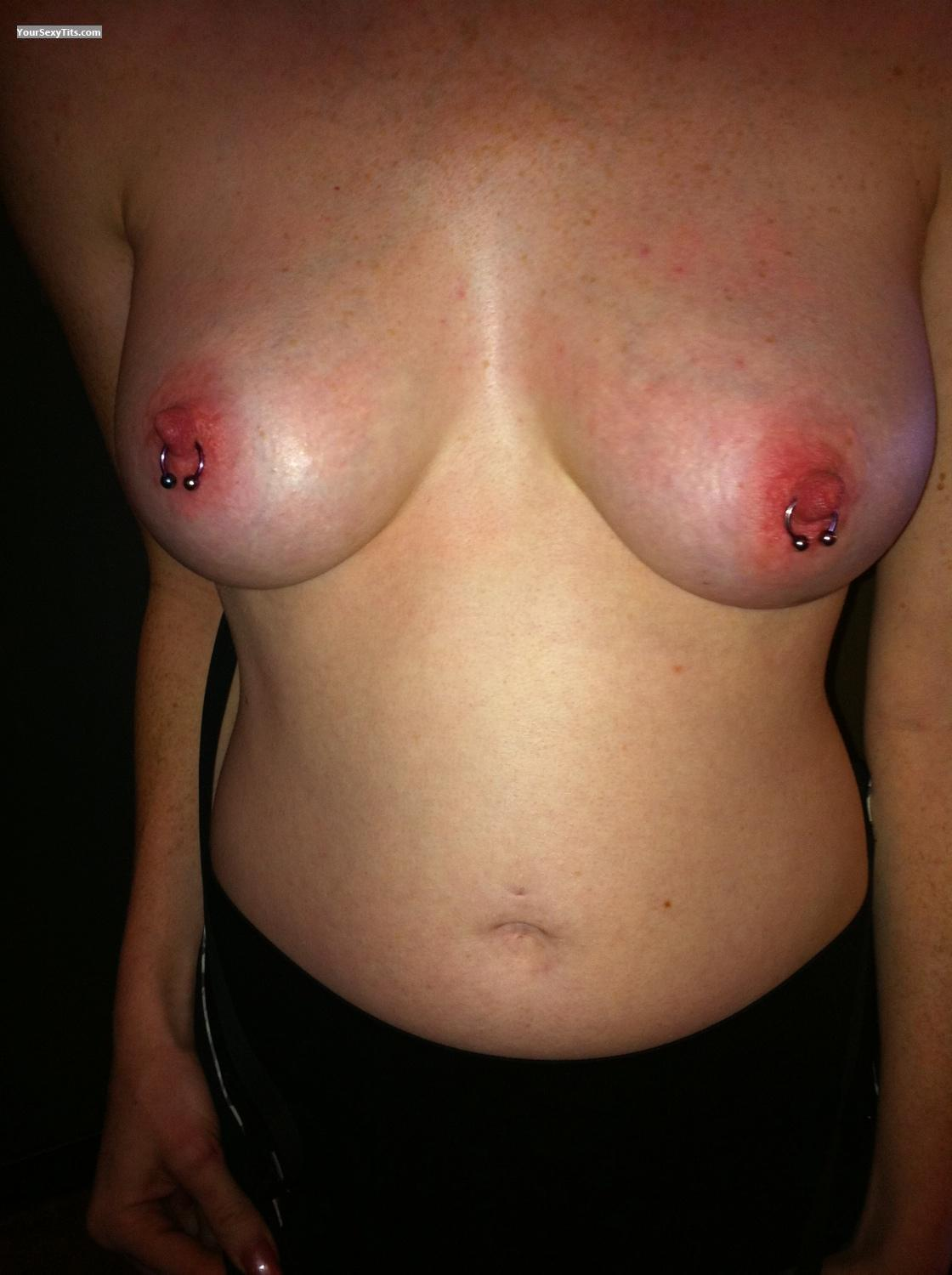 Tit Flash: Medium Tits By IPhone - Lucy7 from United StatesPierced Nipples