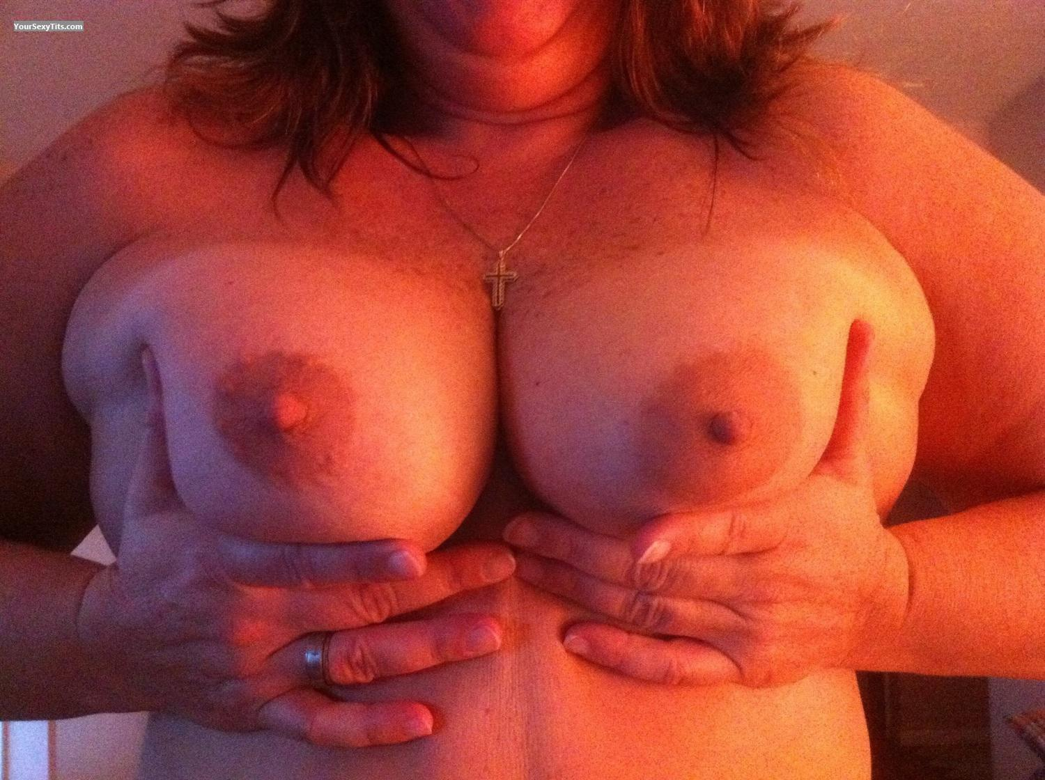Tit Flash: Medium Tits By IPhone - Camping Girl from United States
