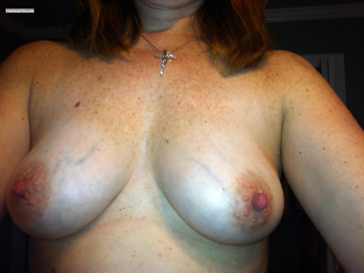 Tit Flash: My Medium Tits By IPhone (Selfie) - Jo from United States