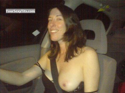 Tit Flash: Medium Tits By IPhone - Topless Hannah from United Kingdom