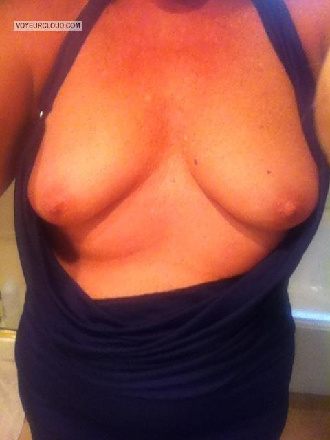 Tit Flash: My Medium Tits By IPhone (Selfie) - Txwife from United States
