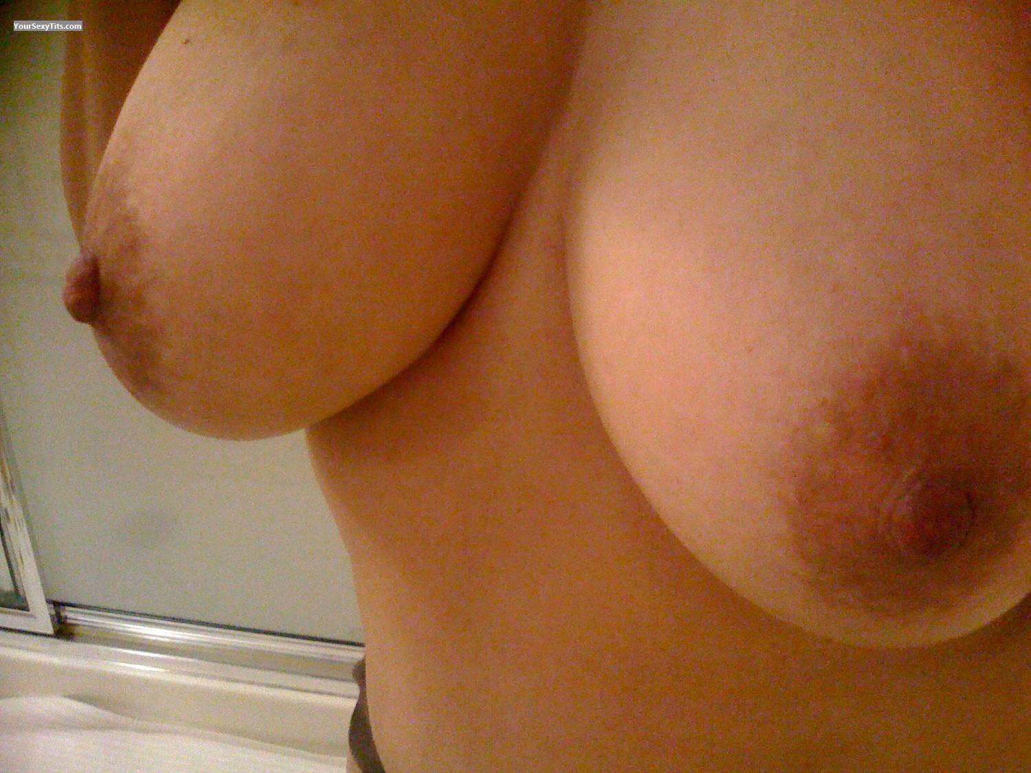 Tit Flash: My Medium Tits By IPhone (Selfie) - Nipsy R from United States