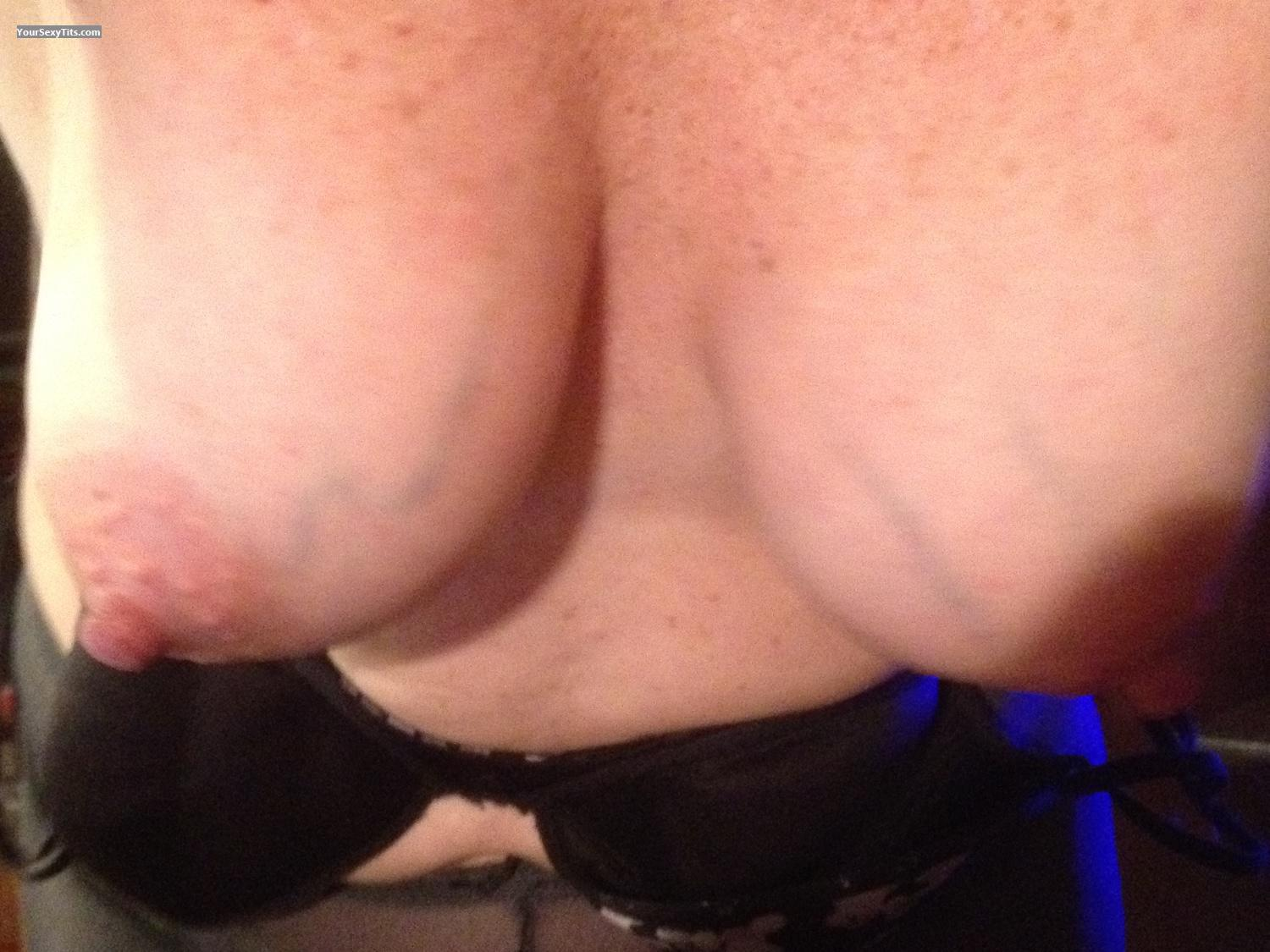 Tit Flash: Medium Tits By IPhone - Jo from United States