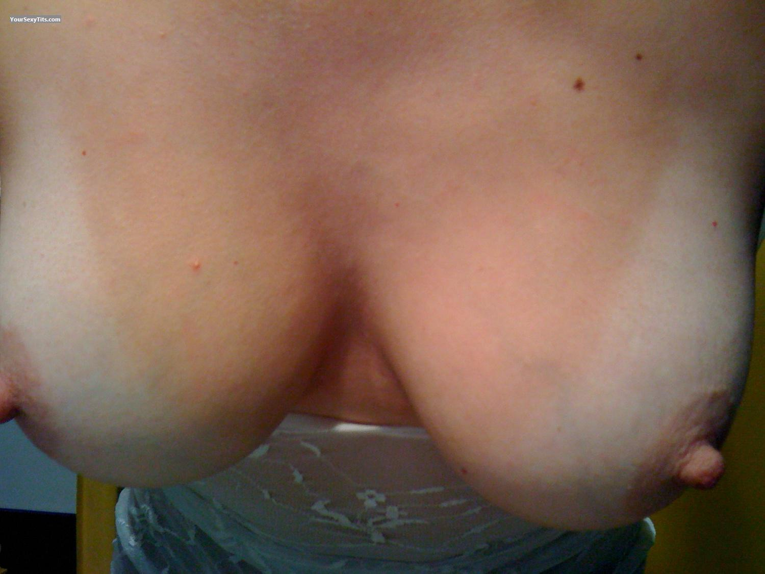 Tit Flash: My Medium Tits By IPhone (Selfie) - LittleBabs from France