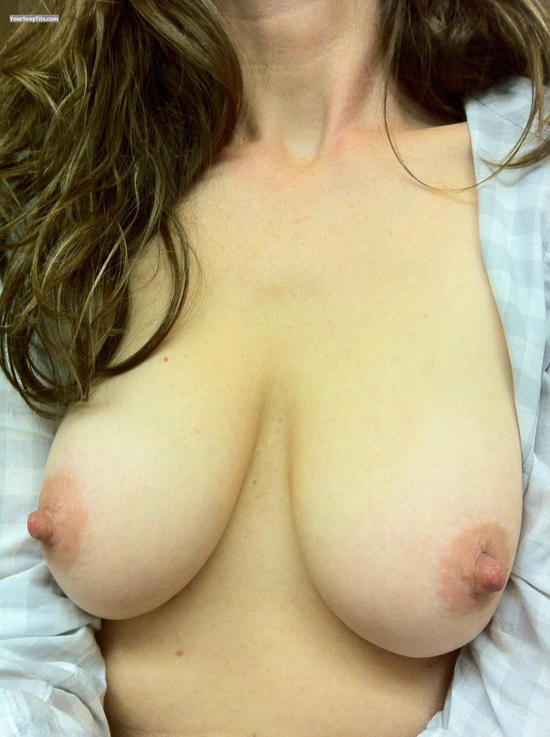 Tit Flash: My Medium Tits By IPhone (Selfie) - Clara from United States