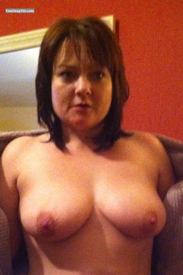 Tit Flash: Medium Tits By IPhone - Topless Mightybooshscoot from United Kingdom