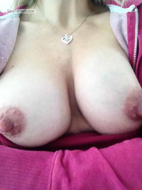 Tit Flash: My Medium Tits By IPhone (Selfie) - Shy Milf from United States