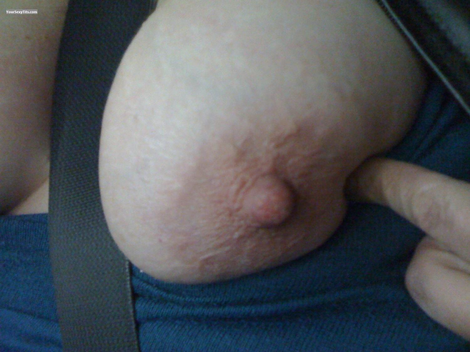 Tit Flash: My Medium Tits By IPhone (Selfie) - StL Cougar from United States