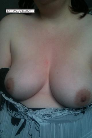 Tit Flash: Medium Tits By IPhone - Just Steph from United Kingdom