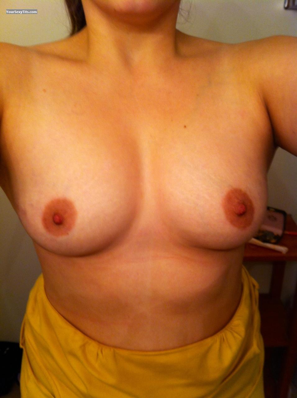 Tit Flash: My Medium Tits By IPhone (Selfie) - Amber from United States