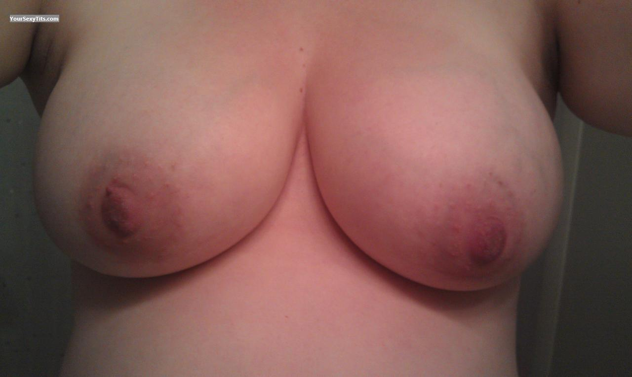 Tit Flash: My Medium Tits By IPhone (Selfie) - J from United States