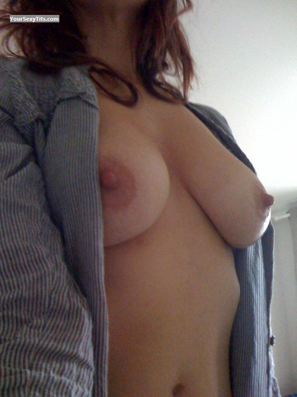 Tit Flash: My Medium Tits By IPhone (Selfie) - Kate X from United States