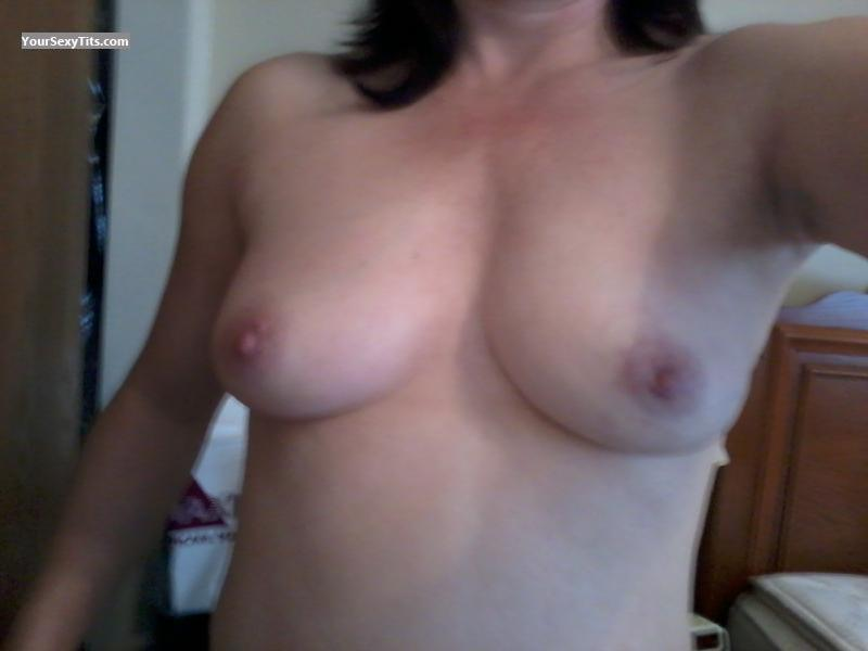 Tit Flash: Medium Tits By IPhone - Heather from United States
