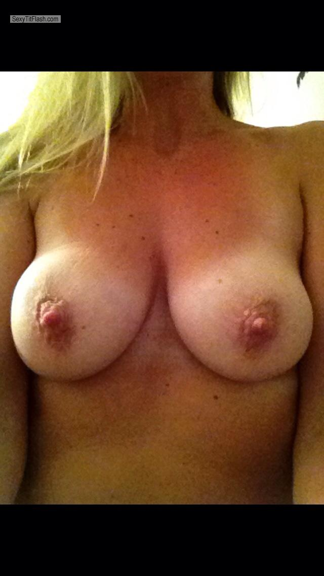 Tit Flash: My Medium Tits By IPhone (Selfie) - Donna from United States