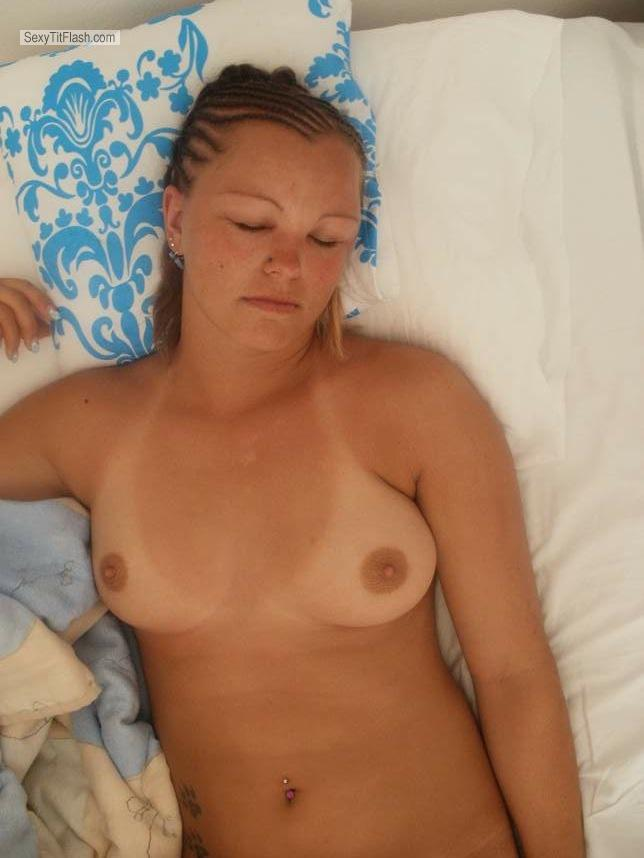 Tit Flash: Small Tits By IPhone - Topless Tiffy from United States