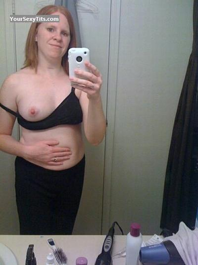 Tit Flash: My Medium Tits (Selfie) - Topless Cheryl S. from United States