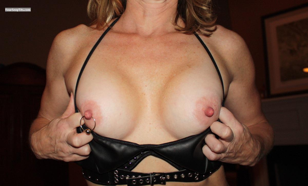 Tit Flash: Medium Tits - Sexy Wife from United StatesPierced Nipples