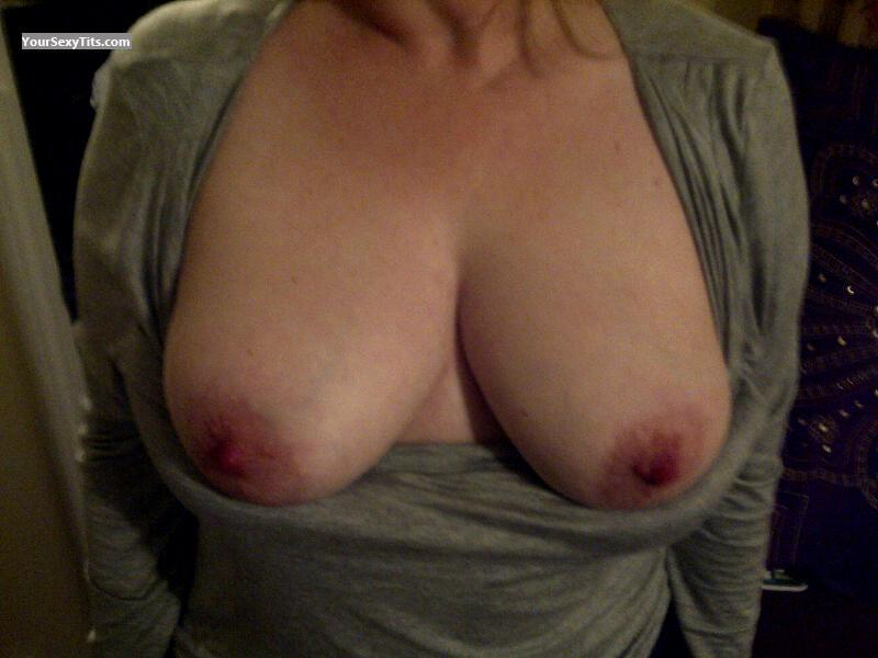 Tit Flash: Wife's Medium Tits - Teacher Flash from United States