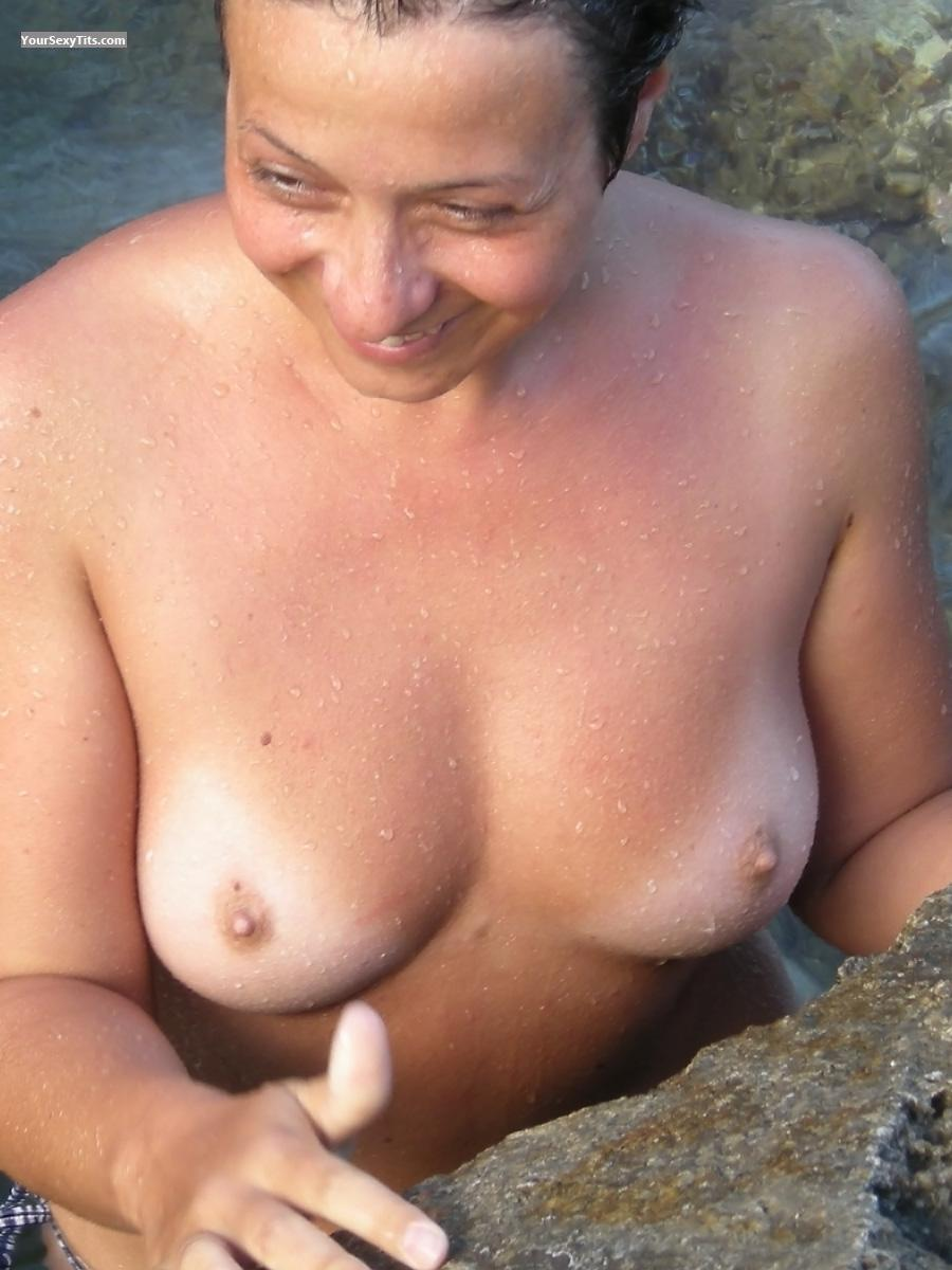 Tit Flash: Medium Tits - Topless Godonlyknows from San Marino