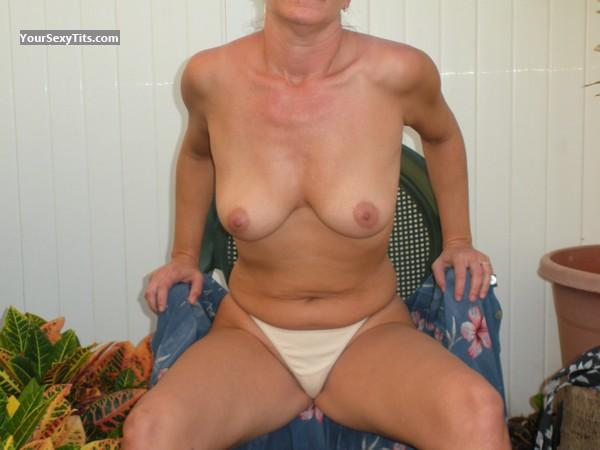 Tit Flash: Medium Tits - Christy from United States