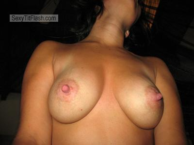 Tit Flash: Wife's Medium Tits - Darla from Mexico