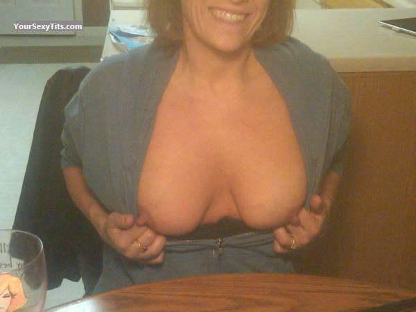 Tit Flash: Wife's Medium Tits - Stacie from United States