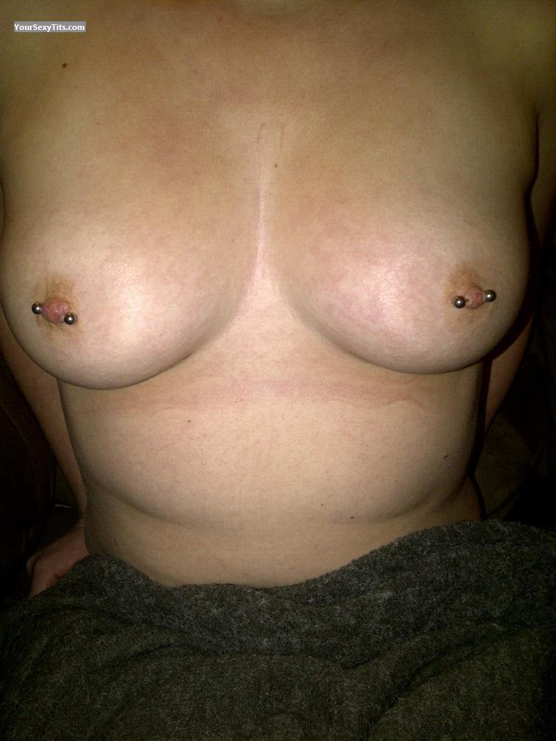 Tit Flash: Medium Tits - Alexis from United StatesPierced Nipples