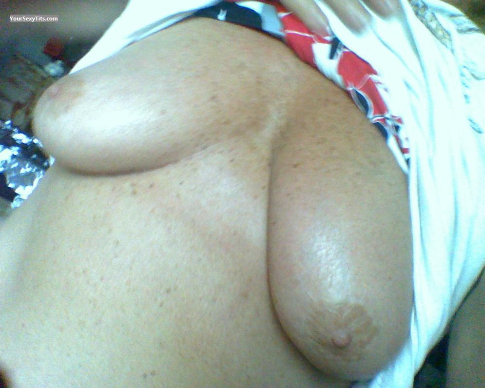 Tit Flash: My Medium Tits (Selfie) - Mandy from United States