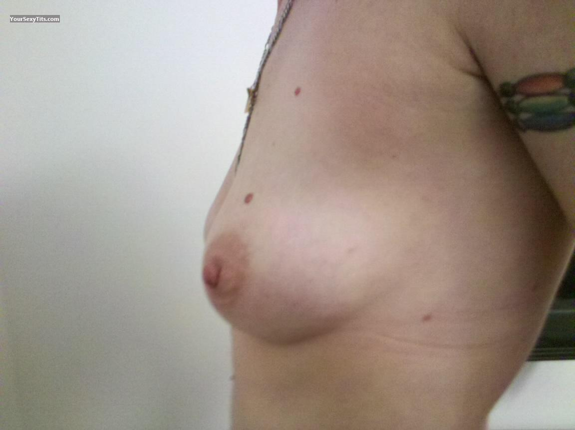 Tit Flash: Medium Tits - Left And Right from United States