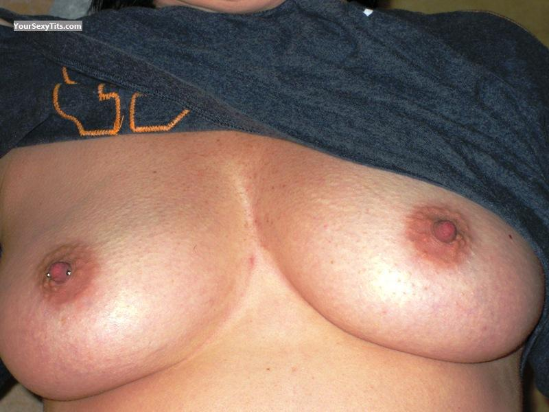 Tit Flash: Medium Tits - Vive from CanadaPierced Nipples