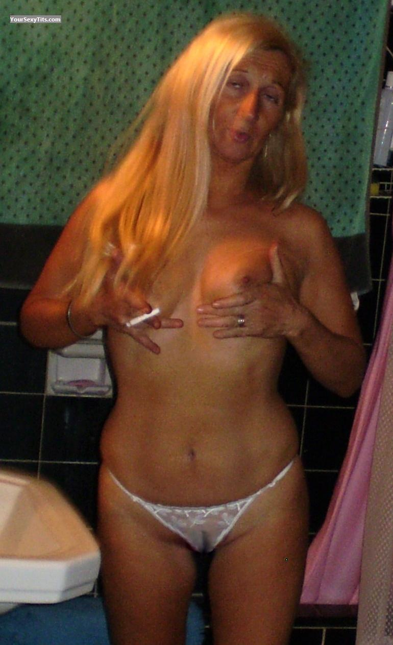 Tit Flash: Medium Tits - Topless Cristy from Argentina