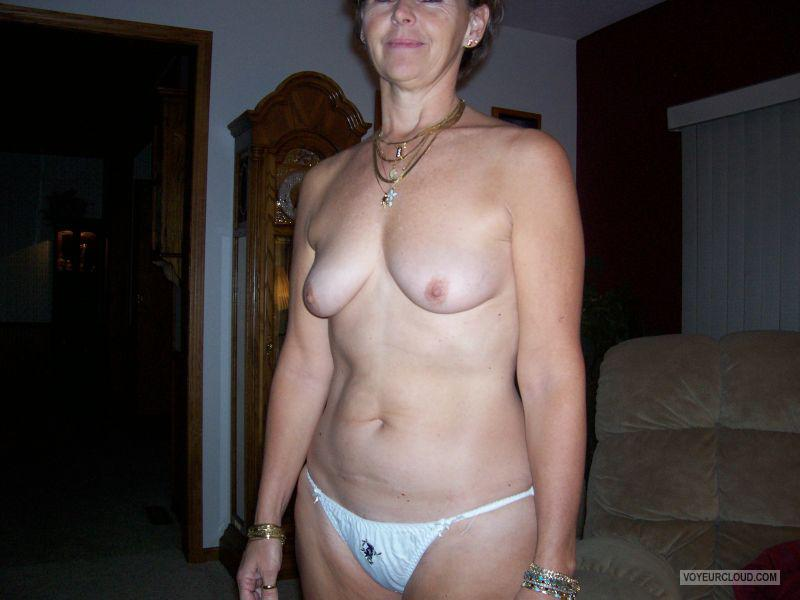 Tit Flash: Wife's Small Tits - Bare Barb from United States