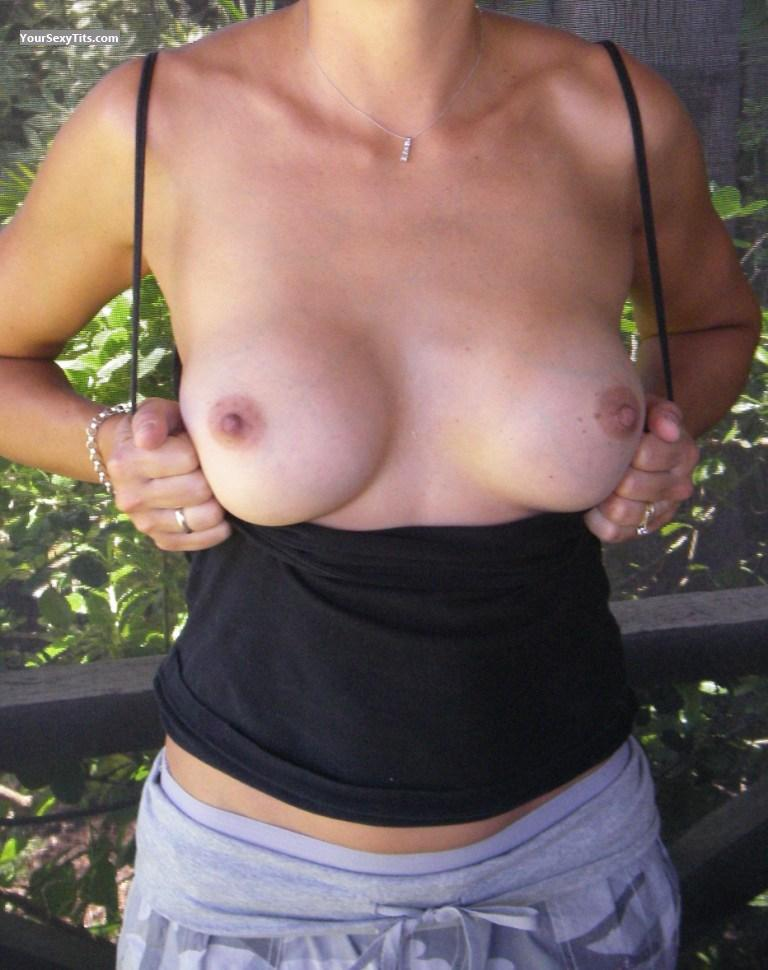 Tit Flash: Medium Tits - Celeste from Australia