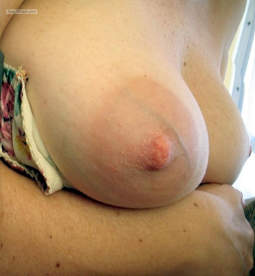 Tit Flash: Wife's Medium Tits - Cow from United States