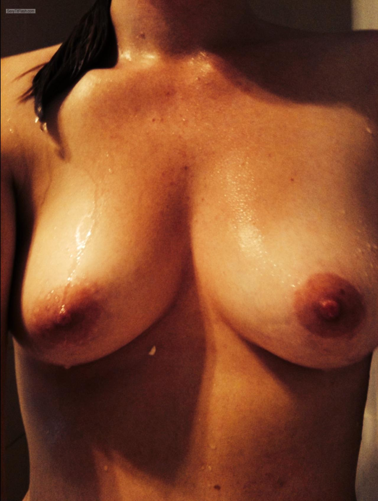 Medium Tits Of My Wife Selfie by Wet Wife